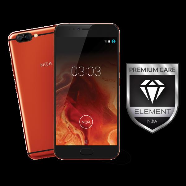 Pametni telefon NOA ELEMENT H10LE rdeč + DARILO NOA ovitek za telefon H10LE